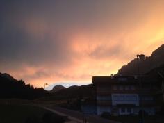 Moody sky over Passo Pordoi
