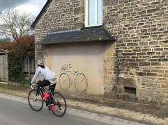 Brittany cycling art