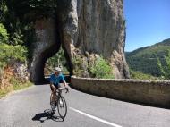 Riding above the Gorge de la Jonte