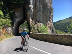 Riding above the Gorge de la Jonte