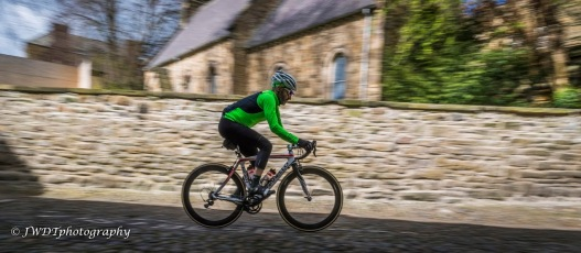 Cobbles wall blurry